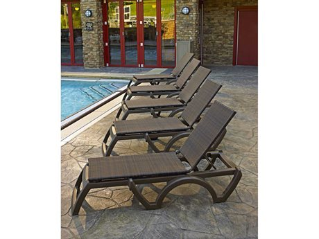 Grosfillex Java Espresso Wicker Lounge Set