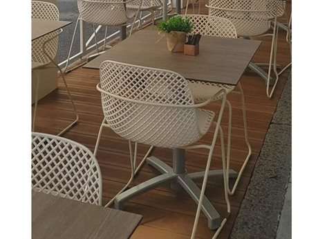Grosfillex Ramautelle Creme Absolute Steel Dining Set