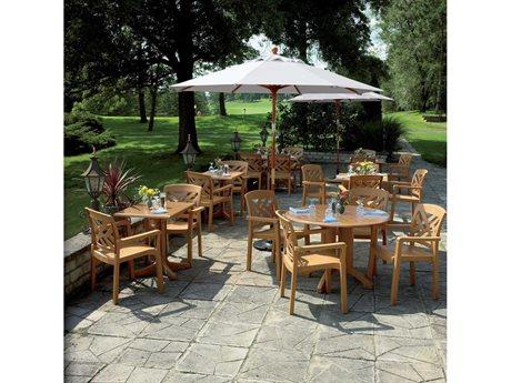 Grosfillex Sanibel Wood Resin Dining Set