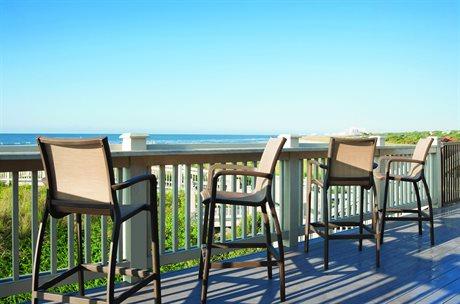Grosfillex Sunset Fusion Bronze Aluminum Sling Bar Chair Set