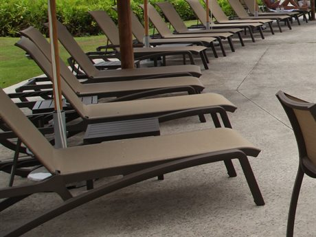 Grosfillex Sunset Bronze Aluminum Sling Lounge Set