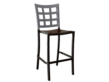 Grosfillex Plazza Aluminum Stacking Barstool (Sold in 2)