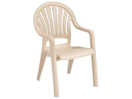 Grosfillex Pacific Fanback Stacking Arm Chair (Sold in 4)