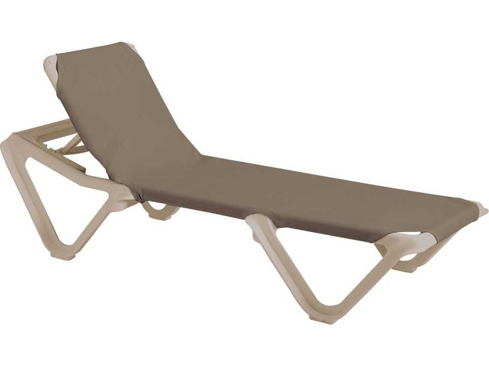Grosfillex nautical sling adjustable chaise sold in 2 for Chaise longue grosfillex