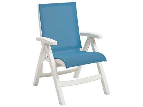 Grosfillex Belize Sling Midback Folding Chair (Sold in 2) PatioLiving