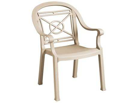 Grosfillex Victoria Classic Stacking Arm Chair (Sold in 4)