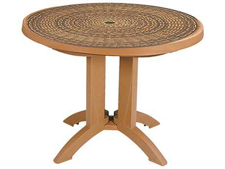 Grosfillex Havana 38 Round Resin Folding Table
