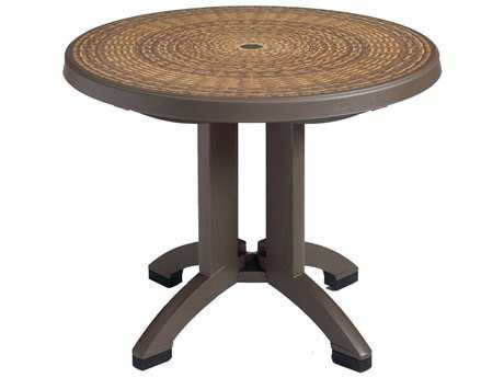 Grosfillex Havana Resin 38 Round Folding Table