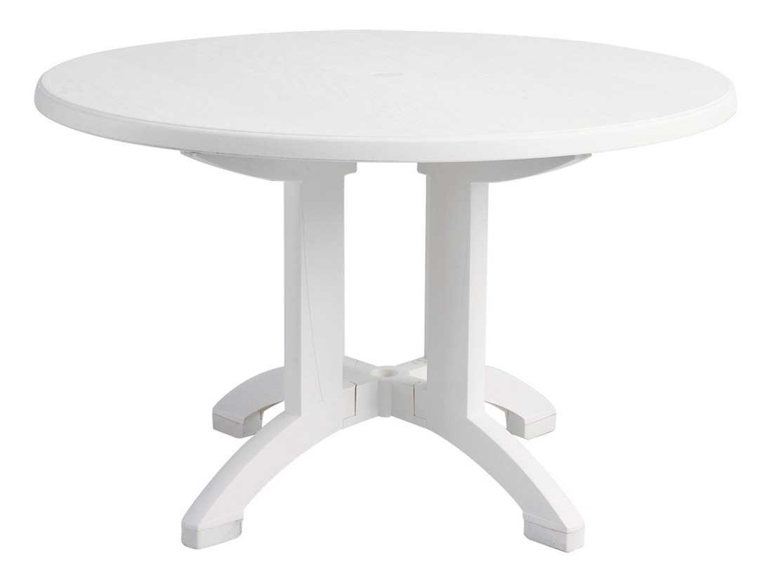 Grosfillex Aquaba Resin 48 Round Pedestal Table - Grosfillex Outdoor Patio Furniture - PatioLiving