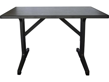 Grosfillex Omega 45'' Wide Resin Rectangular Dining Table