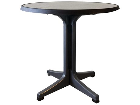 Grosfillex Omega 34'' Wide Resin Round Bistro Table