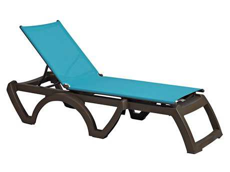 Grosfillex Calypso Resin Bronze Mist Chaise (Sold in 2)