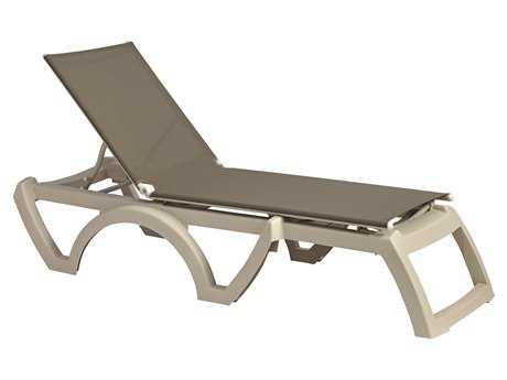 Grosfillex Calypso Resin Sandstone Chaise (Sold in 2)