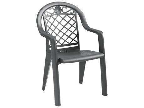 Grosfillex Savannah Resin Stacking Dining Arm Chair (Sold in 4) PatioLiving