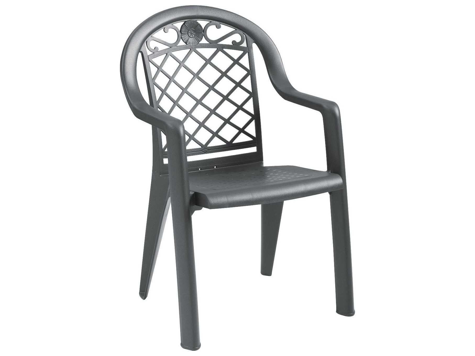 Grosfillex Savannah Resin Stacking Dining Arm Chair Sold