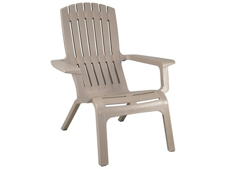 Grosfillex Westport Resin French Taupe Adirondack Chair (Sold in 4)