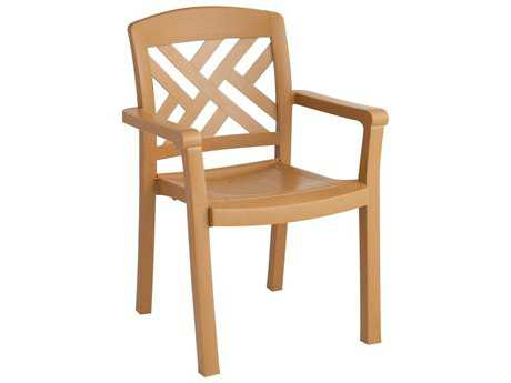 Grosfillex Sanibel Resin Stacking Dining Arm Chair (Sold in 4)