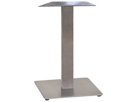 Grosfillex Gamma Steel Silver Gray 18'' Square Dining Height Table Base