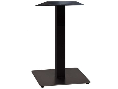 Grosfillex Gamma Steel Black 18'' Square Dining Height Table Base