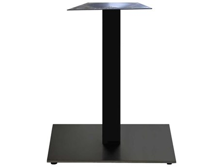 Grosfillex Gamma Steel Black 22'' Square Dining Height Table Base