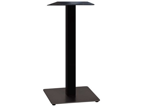 Grosfillex Gamma Steel Black 18'' Square Bar Height Table Base