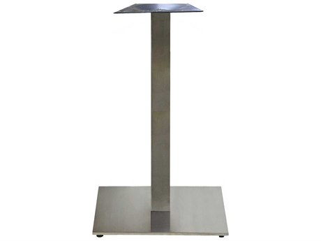 Grosfillex Gamma Steel Silver Gray 22'' Square Bar Height Table Base