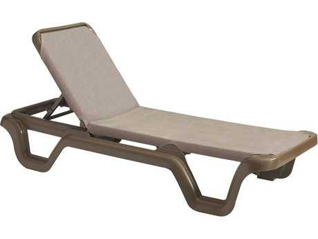 Grosfillex Marina Sling Adjustable Resin Chaise (Sold in 2)