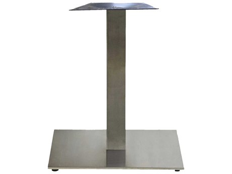 Grosfillex Gamma Steel Silver Gray Marine 22'' Square Dining Height Table Base