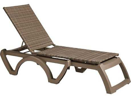 Grosfillex Java Resin All-Weather Wicker Chaise (Sold in 2)