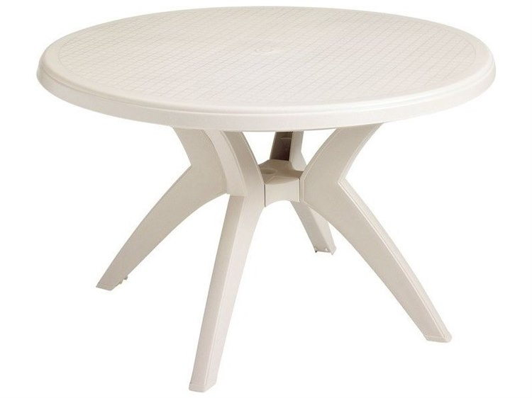 Grosfillex Ibiza Resin Sand 46 Wide Round Dining Table