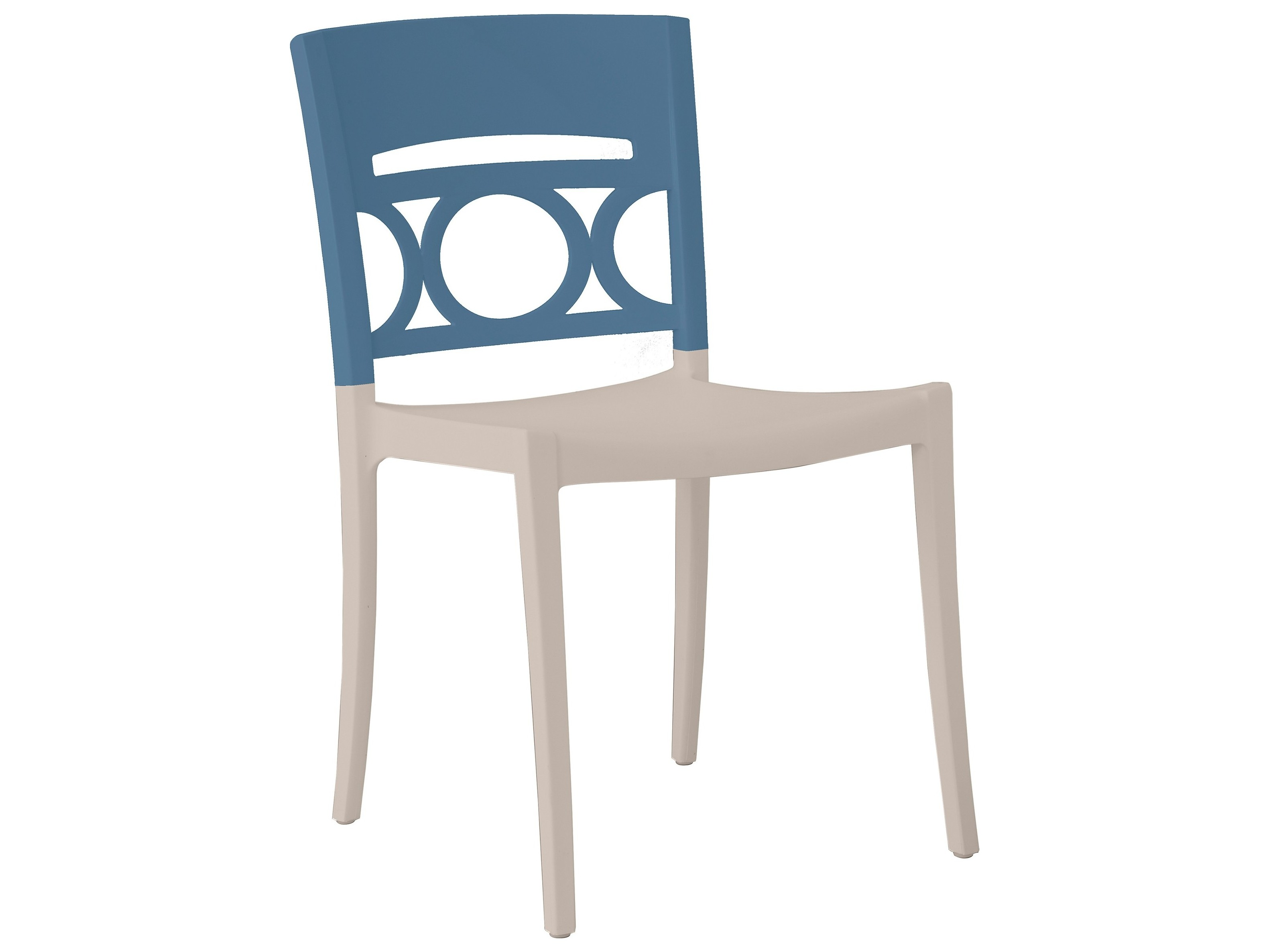 Grosfillex Moon Resin Denim Blue Linen Stacking Dining Side Chair Sold In 4 Us566680