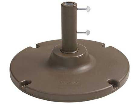 Grosfillex Resin Bronze Mist Y-Leg and Lateral Umbrella Base