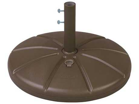 Grosfillex Resin Bronze Mist Umbrella Base with Filling Cap