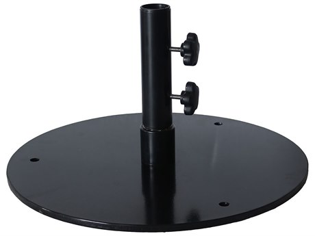 Grosfillex Classic Steel Black Round Flat Umbrella Base