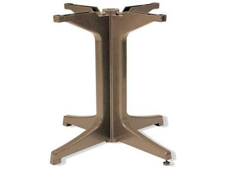 Grosfillex Alpha Resin Taupe Large Pedestal Table Base
