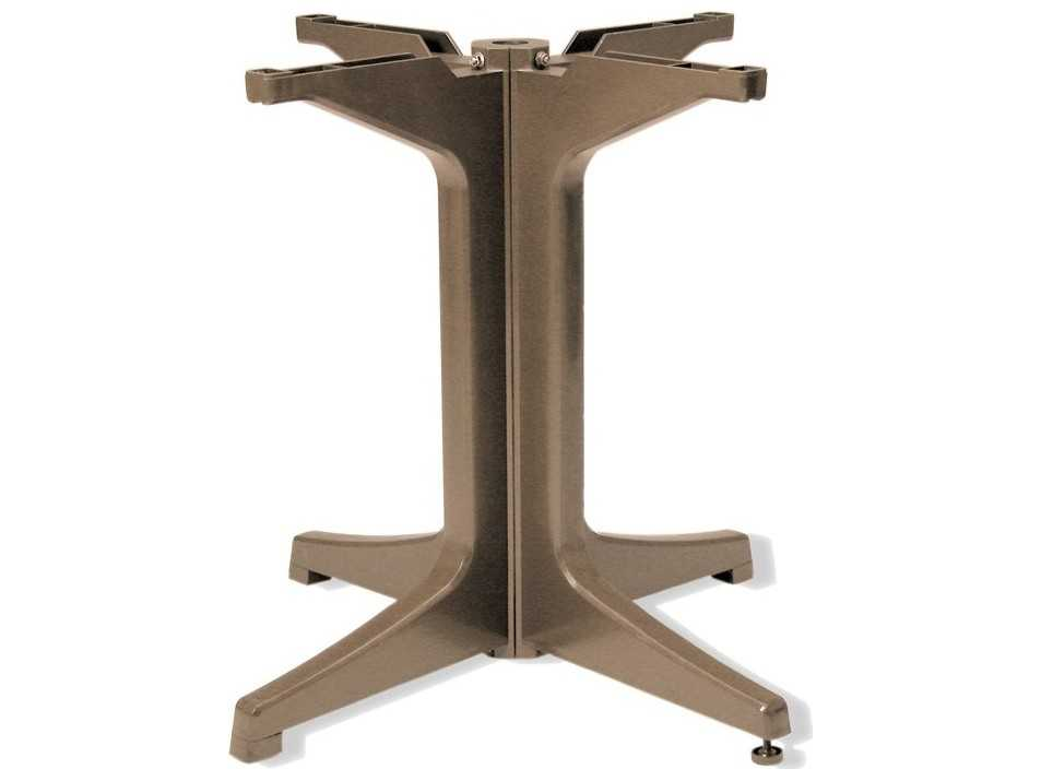 Grosfillex resin pedestal base 2000 us624181 for Table exterieur grosfillex