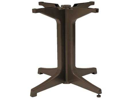 Grosfillex Alpha Resin Bronze Mist Large Pedestal Table Base