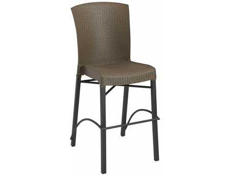 Grosfillex Havana Wicker Stacking Barstool (Sold in 2)