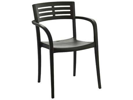 Grosfillex Vogue Resin Stacking Dining Arm Chair (Sold in 4)