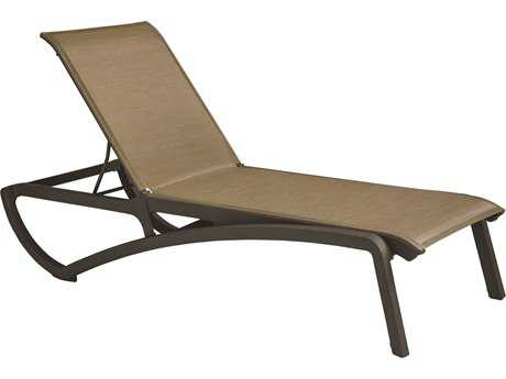 Grosfillex Sunset Resin Sling Chaise Lounge (Sold in 2)