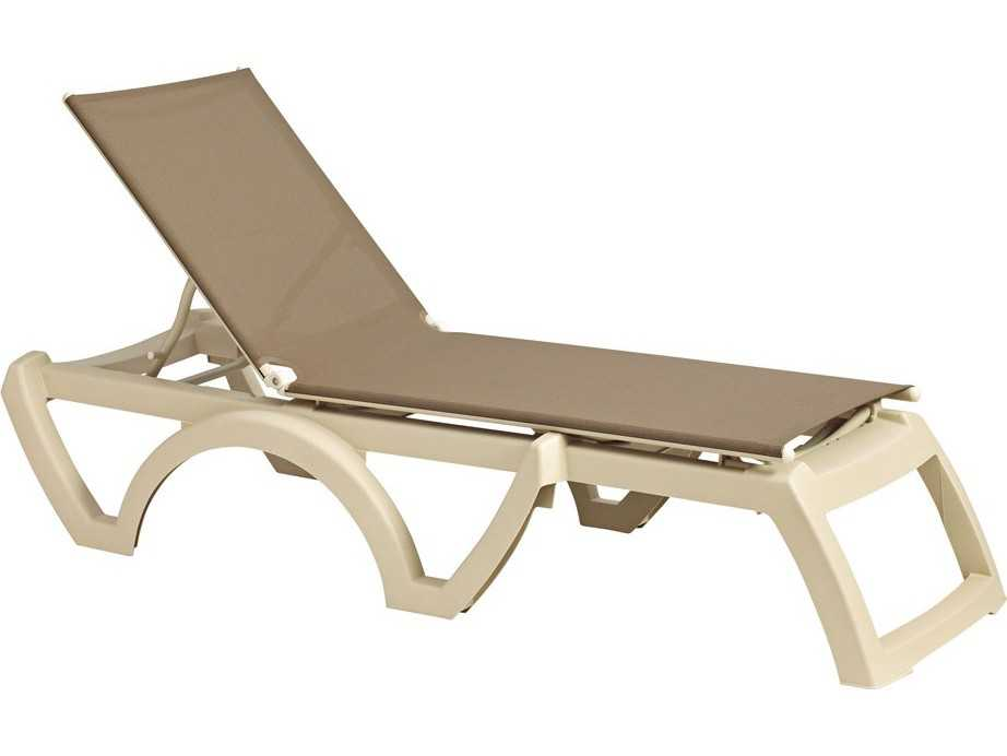 Grosfillex calypso sling adjustable chaise sold in 2 for Chaise longue grosfillex