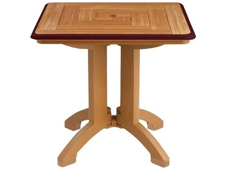 Grosfillex Atlantis Resin 32 Square Folding Table (Sold in 2)