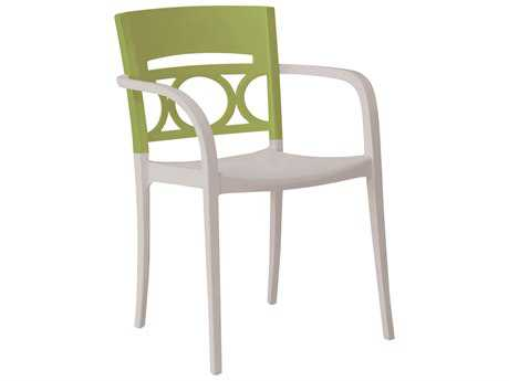 Grosfillex Moon Stacking Arm Chair (Sold in 4)