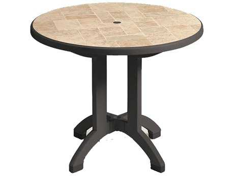 Grosfillex Siena Resin 38 Round Folding Table