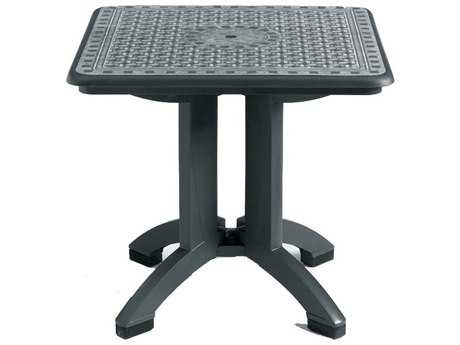 Grosfillex Toledo Resin 32 Square Folding Table