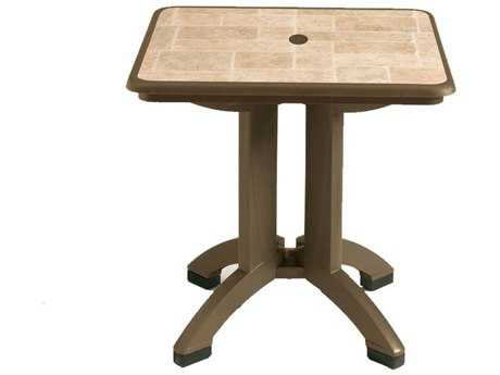 Grosfillex Siena Resin 32 Square Folding Table