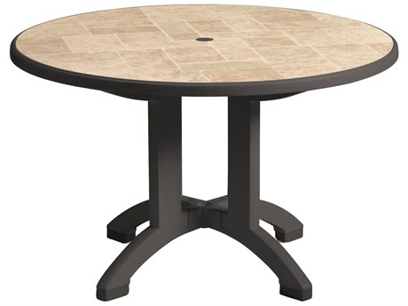 Grosfillex Aquaba Classic Resin 48 Round Table