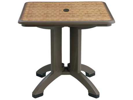Grosfillex Havana Resin 32 Square Folding Table (Sold in 2)