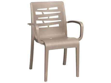 Grosfillex Essenza Stacking Arm Chair (Sold in 4)