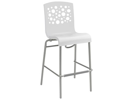 Grosfillex Tempo Aluminum Stacking Barstool (Sold in 2)